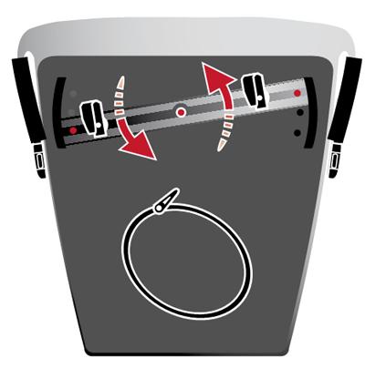 Fijación Adjustable rail de alforjas delanteras y traseras de Vaude