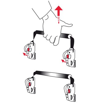 Fijación QMR de alforjas delanteras y traseras de Vaude