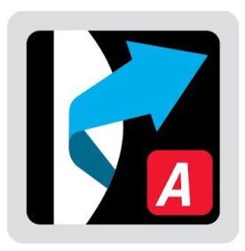 Logo del sistema de suspensión Aeroflex en mochilas Vaude