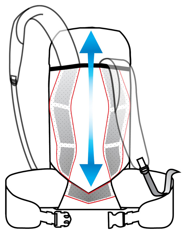 Alpine Anatomic Suspension System for Vaude Backpacks