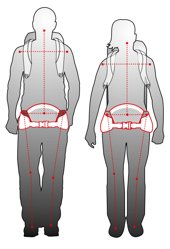 Vaude backpack adata to a woman's anatomy