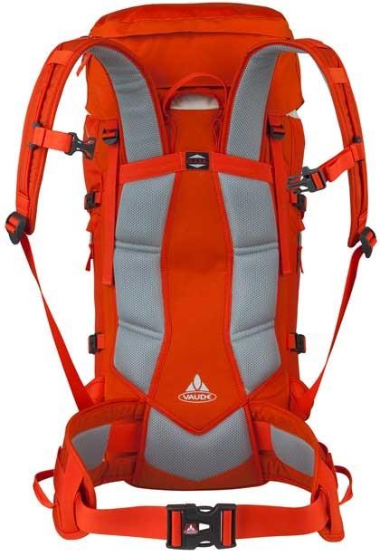 Espalda de la mochila Vaude Challenger 35+10