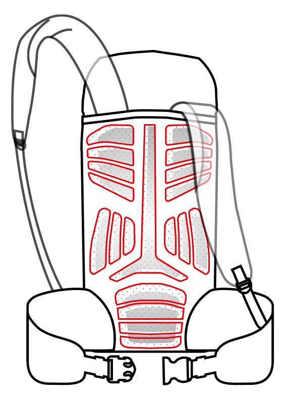 Sistema de suspensión Muscle Flex de mochilas Vaude