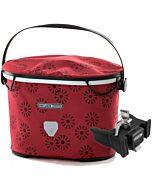 Bolsa de manillar Ortlieb Up Town Design floral red (rojo) con fijación