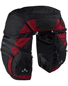 Saddlebag Vaude Karakorum Pro black carmine (red and black)