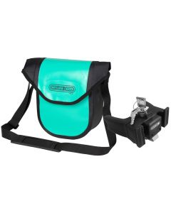 Ortlieb Ultimate Six Free Compact handlebar bag lagoon-black (turquoise) with fixation