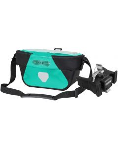 Ortlieb Ultimate Six Free 5L handlebar bag lagoon-black (turquoise) with fixation