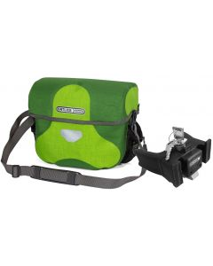 Orltlieb Ultimate Six Plus 7L lime and moss green handlebar bag with fixation