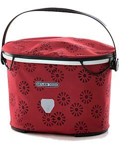 Bolsa de manillar Ortlieb Up Town Design floral red (rojo)