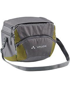 Bolsa de manillar Vaude OnTour Box L (KLICKfix ready) iron/bamboo (gris y verde)