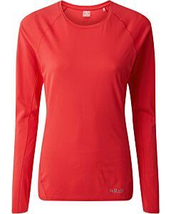 Camiseta Rab Force LS Tee mujer geranium (rojo)