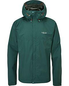 Chaqueta Rab Downpour Eco Jacket hombre pine (verde)