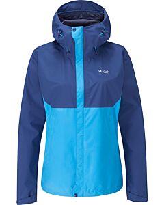 Rab women's Downpour Eco Jacket alaska blue