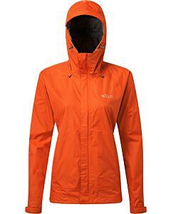 Chaqueta Rab Downpour Jacket mujer firecracker (naranja)