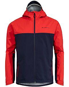 Vaude Men's Moab Rain Jacket mars red