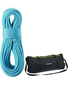 Cuerda Edelrid Boa 9.8mm azul y bolsa de transporte