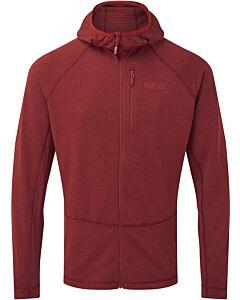 Rab Men's Filament Hoody fleece oxblood red