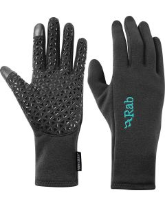 Guantes Rab Power Stretch Contact Grip Glove mujer beluga (gris)