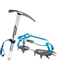 Neve ice ax + Stalker Universal crampons  Pack