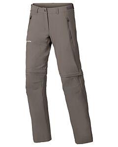 Pantalón Vaude Farley Stretch T-Zip Pants II mujer coconut (marrón)