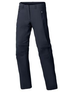 Pantalón Vaude Farley Stretch T-Zip Pants II mujer eclipse (azul)