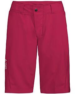 Vaude Women's Ledro Shorts pants crimson red